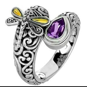 New Amethyst dragonfly ring size 7 to 10